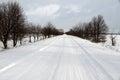 Road In Winter Season