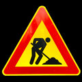 Road work sign Royalty Free Stock Images