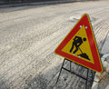 Road works Royalty Free Stock Images