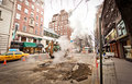Road works on Madison Avenue Royalty Free Stock Photo