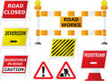 Road works signs Royalty Free Stock Photography