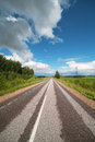 Road in Zemgale, Latvia. Royalty Free Stock Image