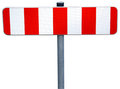 Roadblock isolated on white background Stock Images