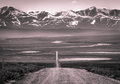 The roadless traveled kugarak mountains from a distance Royalty Free Stock Photos