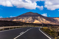 Roads on Lanzarote island Royalty Free Stock Photo