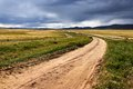 Roads in the Mongolia Royalty Free Stock Image