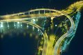 Roads and ramps to a bridge in macau china Royalty Free Stock Image