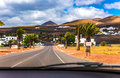 Roads and villages on Lanzarote island Royalty Free Stock Photo