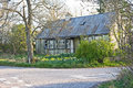 Roadside cottage and garden Royalty Free Stock Photo