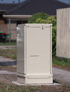 A roadside fiber distribution cabinet for broadband internet Royalty Free Stock Photo