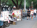 Roadside newsstand a tao ranting street beijing china Royalty Free Stock Image