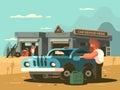 Roadside repair car service