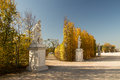 The roadside sculpture in the autumn Royalty Free Stock Photo