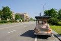 Roadside sightseeing car in sunny summer chengdu china Royalty Free Stock Image
