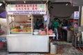 Roadside stall selling lor bak or five spice pork roll at Penan
