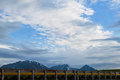 Roadside view of distant Alaskan mountains Royalty Free Stock Photo