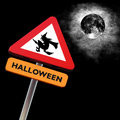 Roadsign halloween Royalty Free Stock Photo