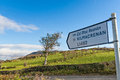 Roadsign in ireland with scenic landscape in the background Royalty Free Stock Image