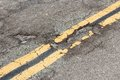 Roadway damage Royalty Free Stock Photo