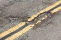 Roadway damage Royalty Free Stock Photo