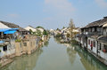 Roadway in zhujiajiao an ancient town shanghai taken shanghai october Royalty Free Stock Images