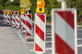 Roadworks Royalty Free Stock Photo