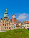 Roal castle at Wawel hill, Krakow, Poland Stock Image