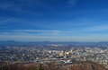 Roanoke city from mill mountian overlook a view mountain of Royalty Free Stock Photos