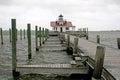 Roanoke marshes lighthouse Royalty Free Stock Photo