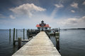 Roanoke Marshes Lighthouse Manteo NC Stock Photography