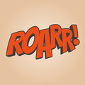 Roar cartoon sound funny illustration of Royalty Free Stock Image