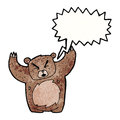 Roaring bear cartoon Stock Photography