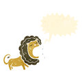 Roaring lion retro cartoon Stock Photos
