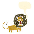 Roaring lion retro cartoon Royalty Free Stock Images