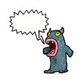 Roaring monster cartoon Royalty Free Stock Photos