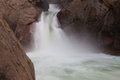 Roaring River Falls shown in early fall in Kings Canyon National Royalty Free Stock Photo