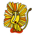 Roaring yellow lion Stock Photos