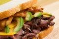 Roast Beef with Avocado Royalty Free Stock Photo
