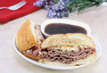 Roast Beef Dip Sandwich. Stock Photography