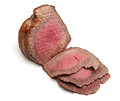 Roast beef joint topside roasted to medium rare Royalty Free Stock Image