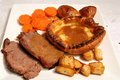 Roast beef lunch Royalty Free Stock Photos