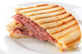 Roast beef panini Stock Photo