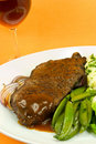 Roast Beef with red Wine Royalty Free Stock Image