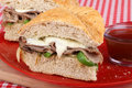 Roast Beef Sandwich Closeup Royalty Free Stock Image
