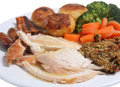 Roast Chicken Dinner Stock Photography