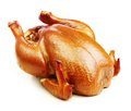 Roast chicken isolated Royalty Free Stock Photo
