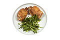 Roast Chicken with rucola Royalty Free Stock Photography