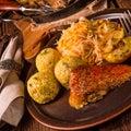 Roast duck with dumplings Royalty Free Stock Photo