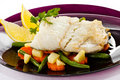 Roast fish fillet Royalty Free Stock Image
