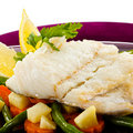 Roast fish fillet Royalty Free Stock Photography